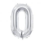 Ballon mylar chiffre argent anniversaire 0 à 9