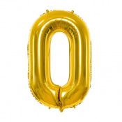 Ballon mylar chiffre or anniversaire 0 à 9 (géant)