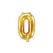 Ballon mylar chiffre or anniversaire + Tige (Mini)