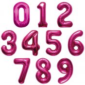 Ballon Mylar Chiffre Rose Fuschia 86 cm