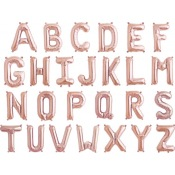 Ballon Mylar Lettre Rose Gold Alphabet