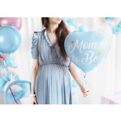 Ballon Mylar Mom to Be Bleu