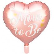 Ballon Mylar Mom to Be Rose