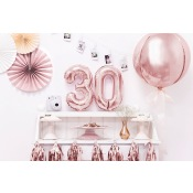 Ballon Mylar Rond Rose Gold