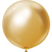 Ballon Rond Géant Or Métallique