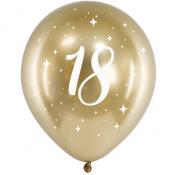 Ballons Anniversaire 18 ans Or Chromé
