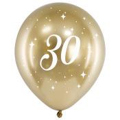 Ballons Anniversaire 30 ans Or Chromé