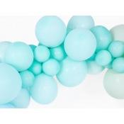 Ballons baudruche Biodégradable Vert d'Eau Pastel (x5)