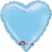 Ballons coeur mylar bleu ciel (x2)