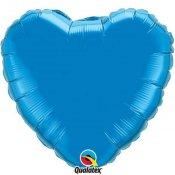 Ballons coeur mylar bleu saphir (x2)