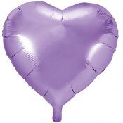 Ballons coeur mylar lilas (x2)