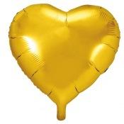 Ballons coeur mylar Or (x2)