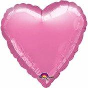 Ballons coeur mylar rose  (x2)