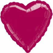 Ballons coeur mylar rouge grenat (x2)