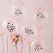 Ballons confettis EVJF Rose Gold (x5)