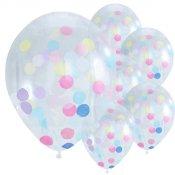 Ballons Confettis Multicolore (x5)