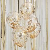 Ballons Confettis Paillette Or (x5)