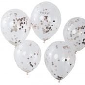 Ballons confettis Rose Gold (x5)