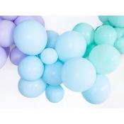 Ballons de baudruche Biodégradable Bleu Pastel (x5)