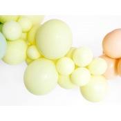 Ballons de baudruche Biodégradable Jaune Pastel (x5)