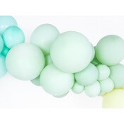 Ballons de baudruche Biodégradable Pistache Pastel (x5)