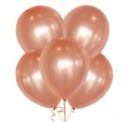 Ballons de baudruche Biodégradable Rose Gold (x5)