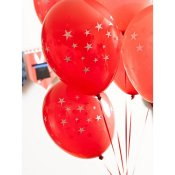 Ballons de baudruche Etoile Rouge (x12)