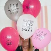 Ballons de baudruche EVJF (x5)