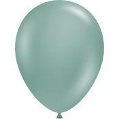 Ballons de baudruche latex Vert Eucalyptus (x5)