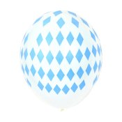 Ballons de baudruche Losange Bleu (x5)