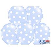Ballons de baudruche à pois Bleu Pastel (x6)