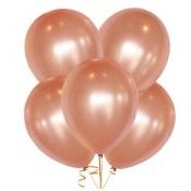 Ballons de baudruche Rose Gold Métallisé (x5)