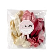 Ballons de baudruche rose métallisé (x12)