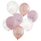 Ballons EVJF Poudré (x5)