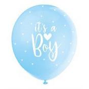 Ballons It's a Boy Nacré Bleu Pastel (x5)