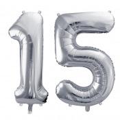 Ballons Mylar Aluminium 15 ans Argent