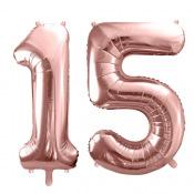 Ballons Mylar Aluminium 15 ans Rose Gold