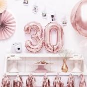 Ballons Mylar Aluminium 25 ans  Rose Gold