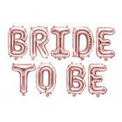 Ballons Mylar Aluminium Bride To Be Rose Gold