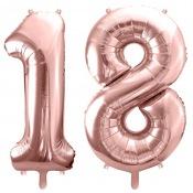 Ballons Mylar Aluminium Rose Gold 18 ans