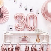 Ballons Mylar Aluminium Rose Gold 25 ans