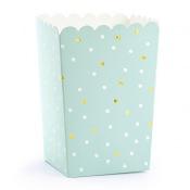 Boîte à popcorn Pois Mint & Or (x6)