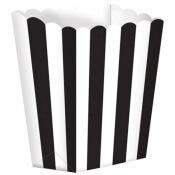 Boîte à popcorn à rayure Noir (x5)