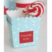 Boîtes à bonbon Bleu Motif Etoiles (x6)