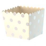 Boîtes à bonbon Pois Argent Métallisé (x6)