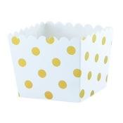 Boîtes à bonbon à Pois Or Métallisé (x6)