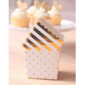 Boîtes à bonbon Rayure Or Métallisé (x6)