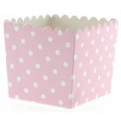 Boîtes à bonbon Rose à Pois Blanc (x6)