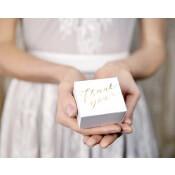 Boîtes à dragées Thank You Doré (x10)