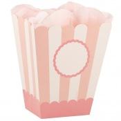 Boîtes à Popcorn  Personnalisable Rose Pastel (x4)